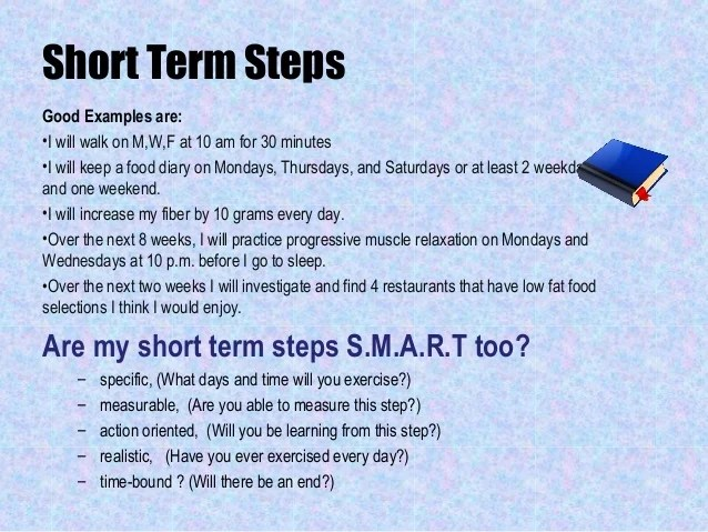 short term goal ideas