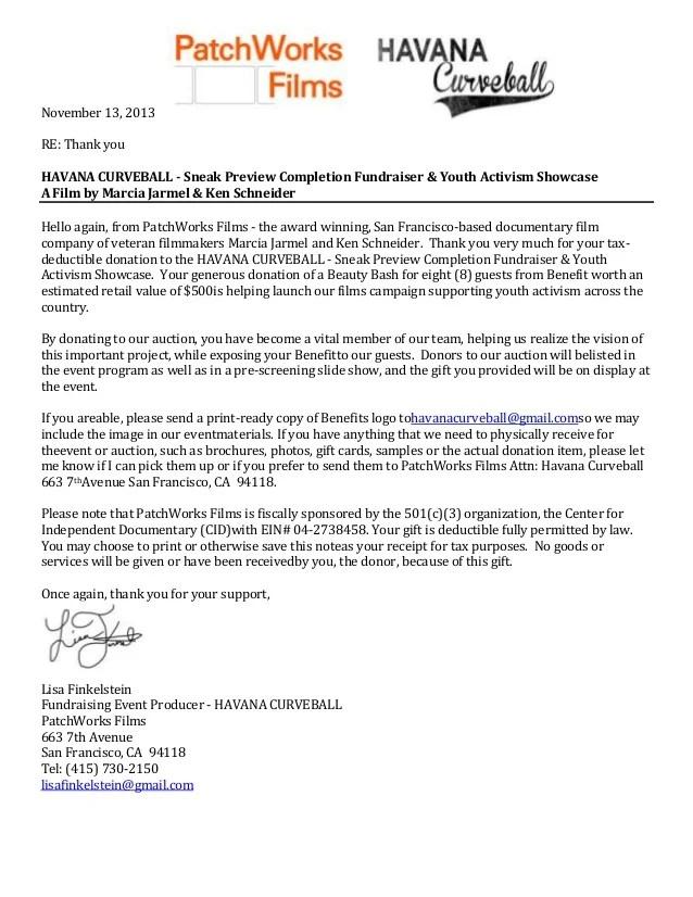 thank you note for fundraiser - Vatozatozdevelopment