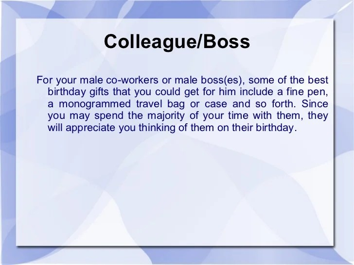 Birthday Gift Ideas For Boss Man