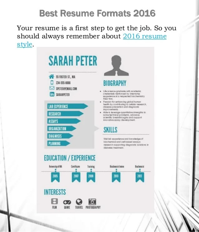 how to make your first resume examples the best resume formats 2016