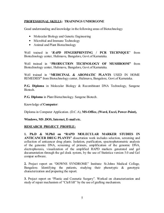 Biotech Resume Sample Top Biotechnology Resume Templates Samples - plant biotechnology resume