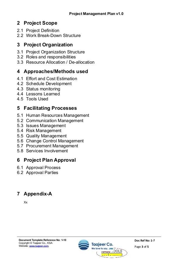 project plan template doc - Roho4senses - project schedule management plan template