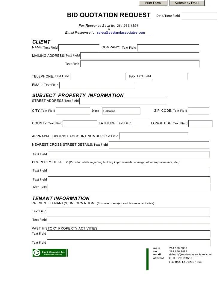 bid request form template - Onwebioinnovate