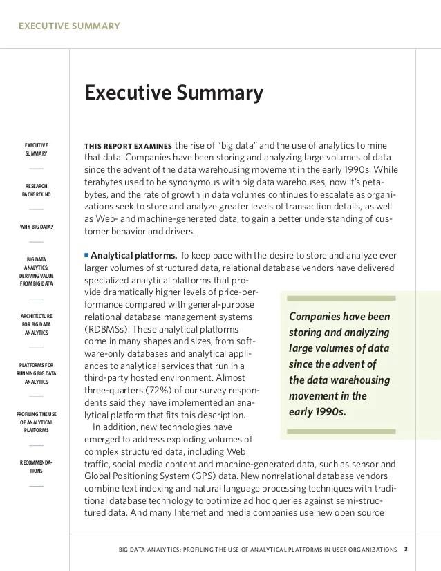 apa executive summary - Pinarkubkireklamowe
