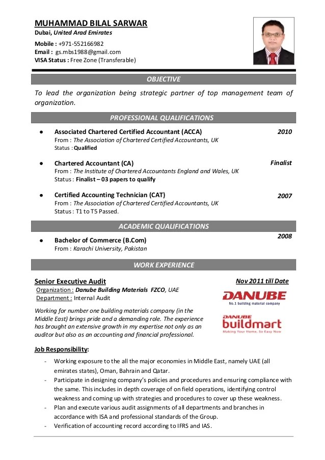 Professional Cv For Accountant | Sample Customer Service Resume