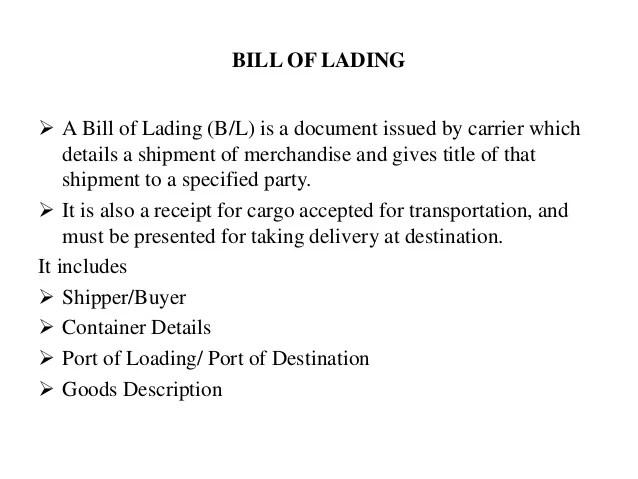 bill of lading copy - Goalgoodwinmetals