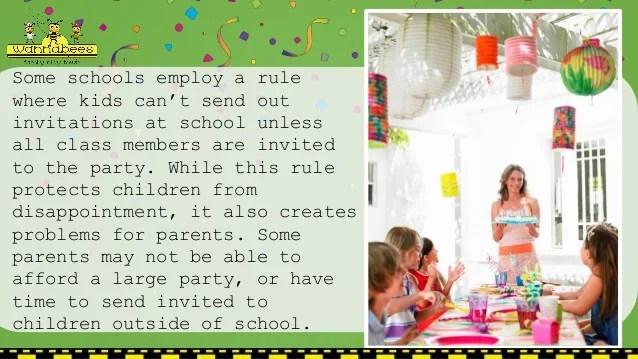 Birthday invitation etiquette when to send invitationswedd children s birthday parties etiquette stopboris Gallery