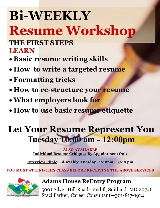 free resume writing workshops federal resume writing training books the resume place resume writing workshop flyer