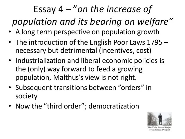 Erik Gustaf Geijer And The Poor Laws