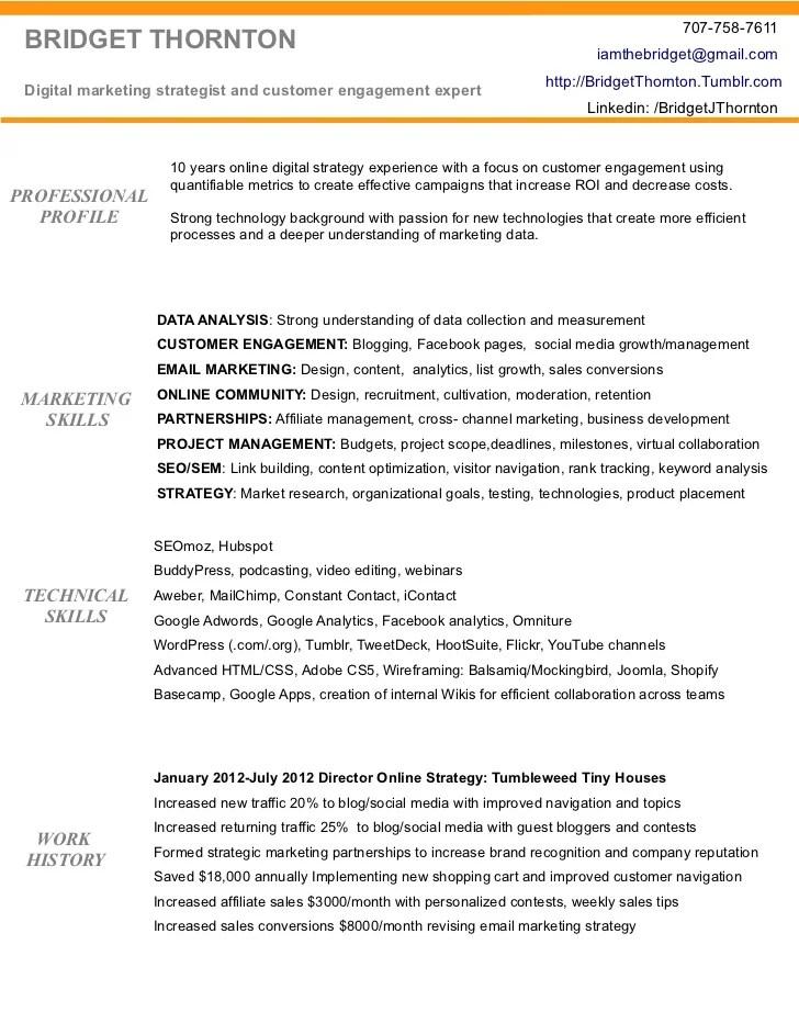 social media marketing resume examples - Canasbergdorfbib