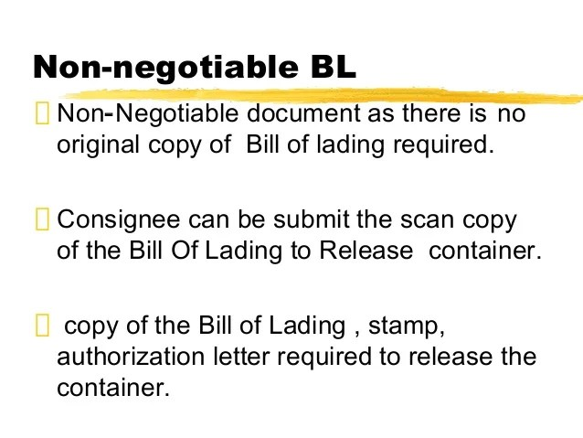 Bill Of Lading Wikipedia Bill Of Lading And Inco Terms