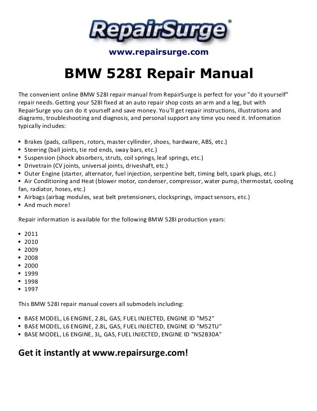 1999 Bmw 528i Engine Diagram Pdf - wiring diagrams image free