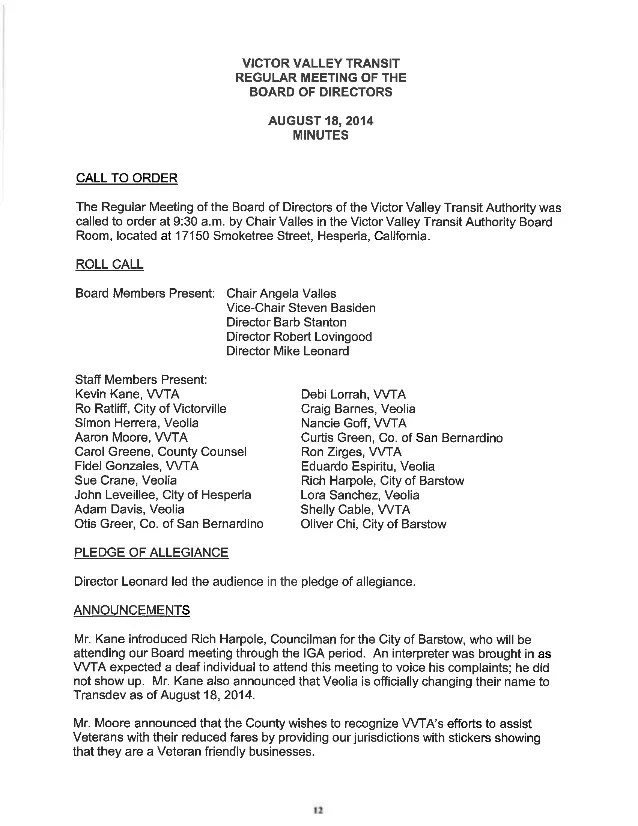 order of meeting agenda - Jolivibramusic