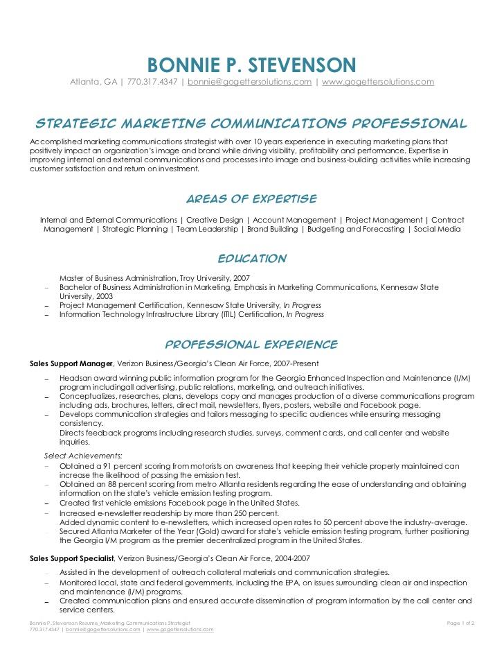 Colorado Office Of Respondent Parents Counsel Bonnie Stevenson Marketing Communications Strategist Resume