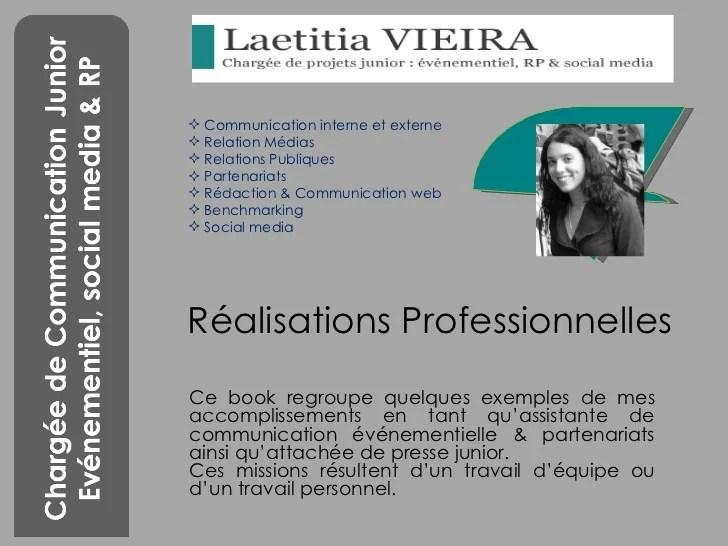 exemples de realisations professionnelles cv