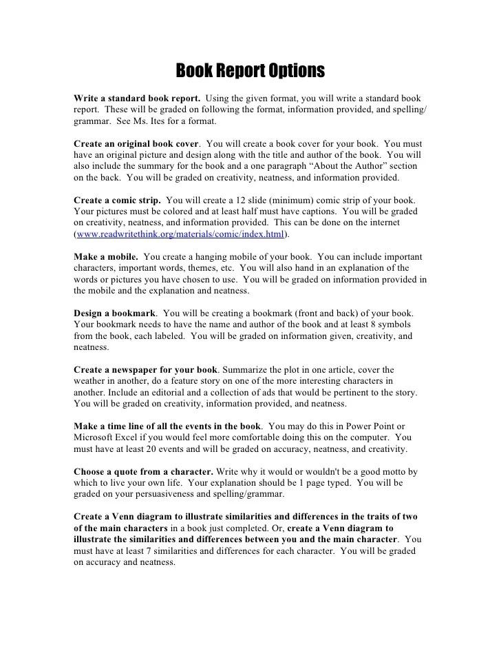 how to do book reports - Alannoscrapleftbehind
