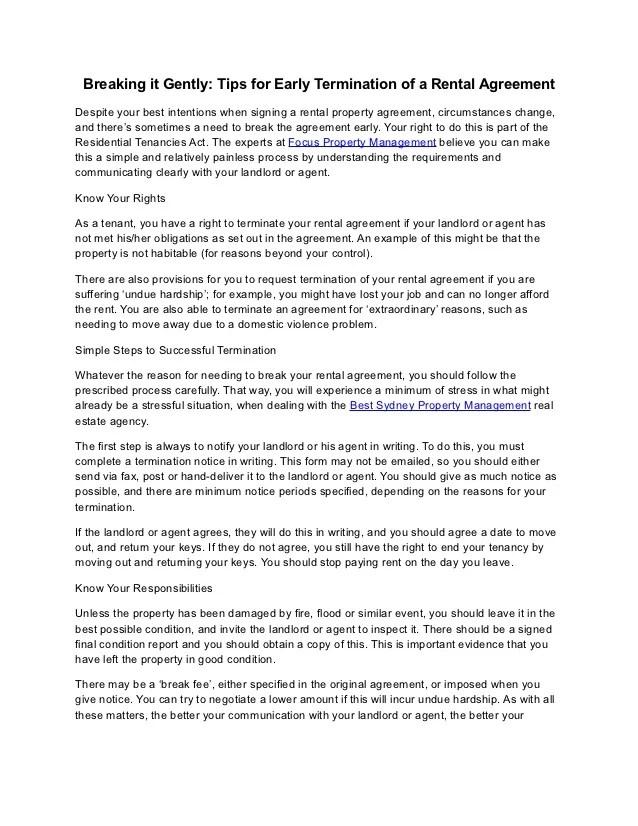 early termination of lease letter - Pinarkubkireklamowe