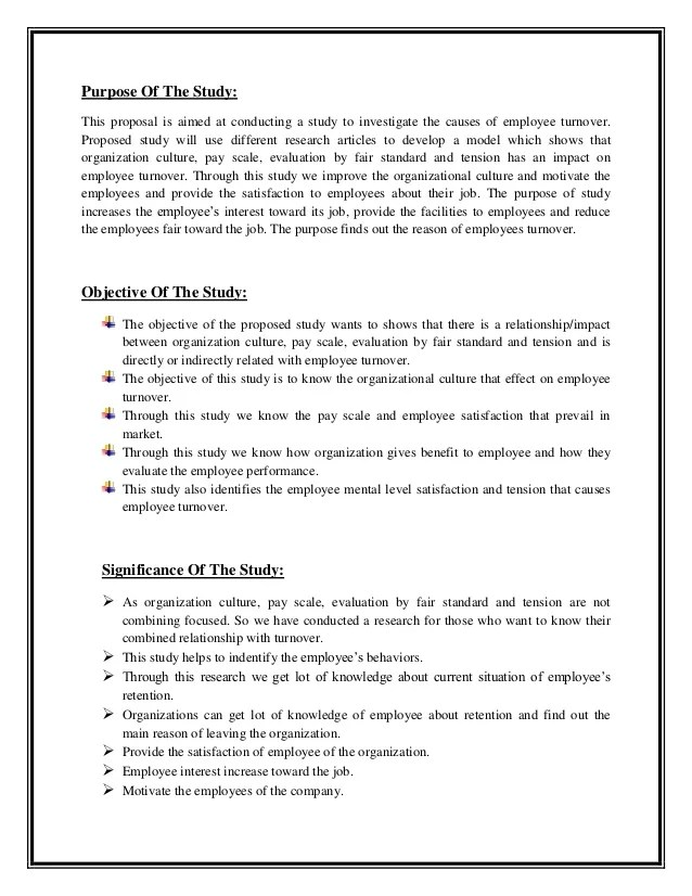 samples of research proposal on employee satisfaction Posts about employee satisfaction research written by margaret r roller.