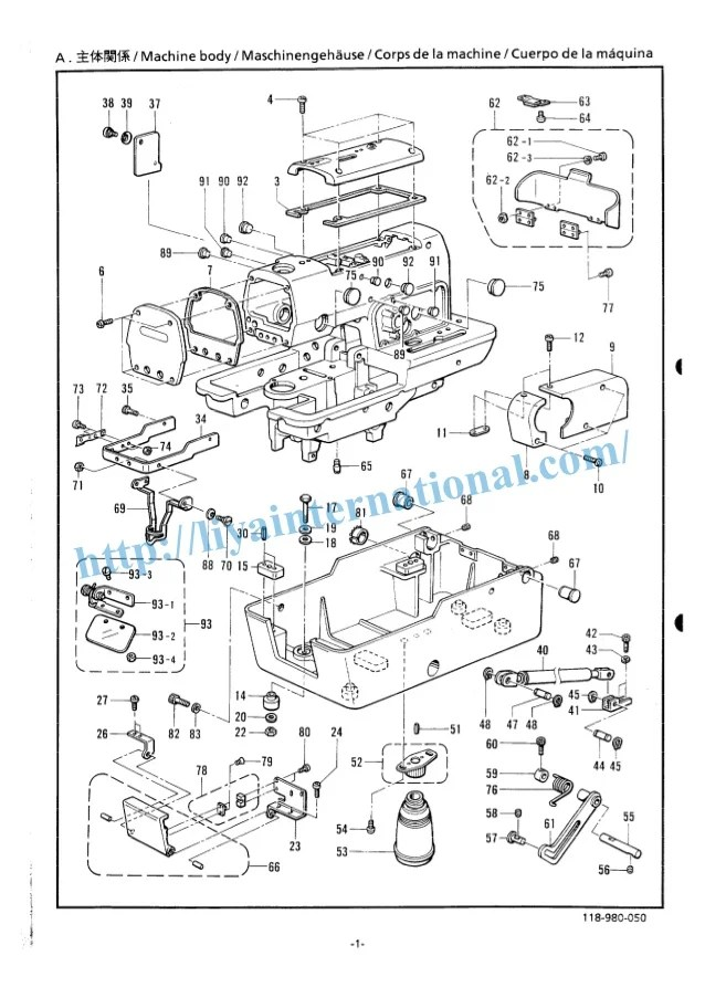 toyota 2440 sewing machine wiring diagram