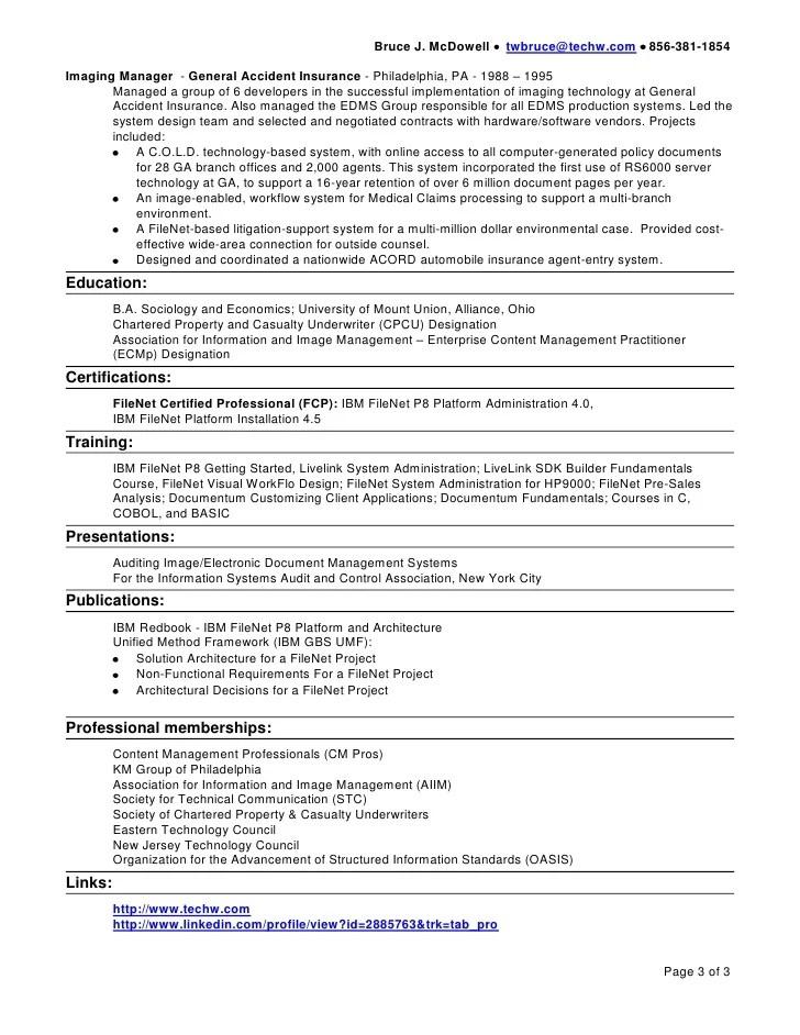 enterprise content management resume - Onwebioinnovate - filenet administrator sample resume