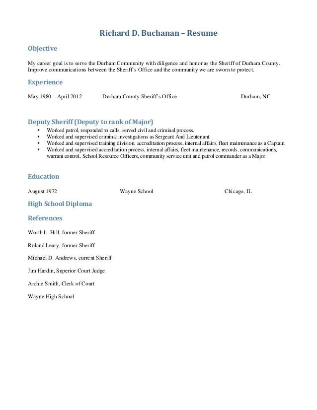 sheriff resume - Onwebioinnovate - sheriff officer sample resume