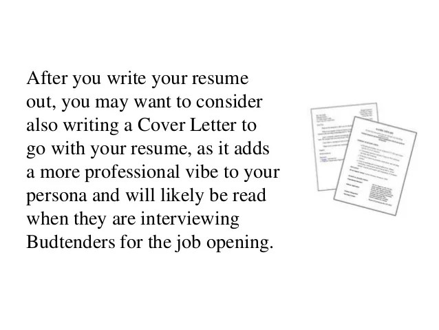 budtending resume examples