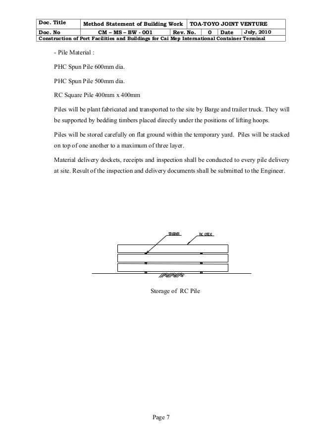 construction work order format doc - Josemulinohouse - method statement format