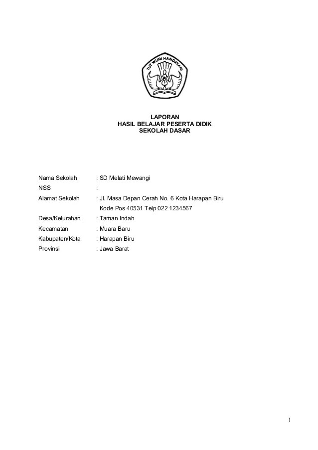 Contoh Format Kurikulum 2013 Contoh Rpp Ekonomi Kurikulum 2013 Guraruguraru Laporanhasil Belajar Peserta Didiksekolah Dasarnama Sekolah Sd Melati