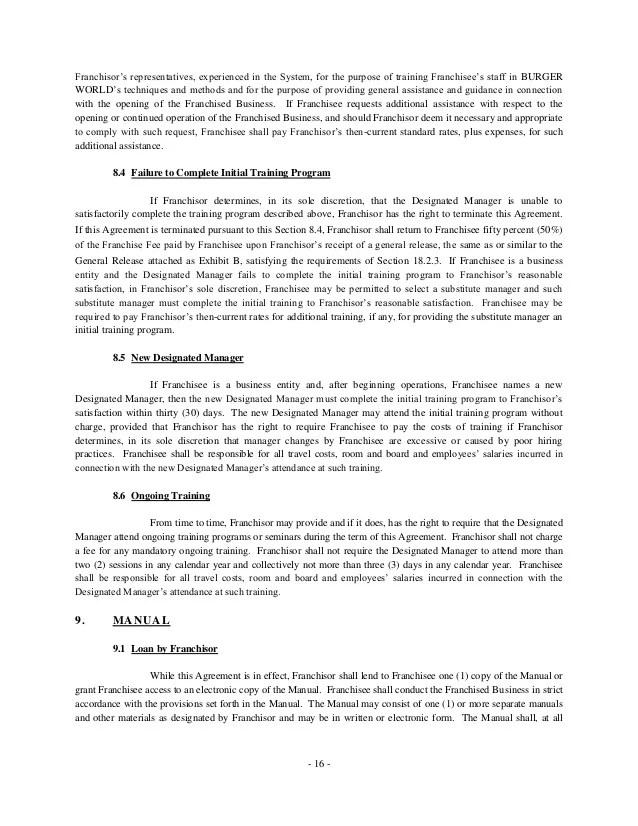 franchising agreement sample free - Josemulinohouse - sample franchise agreement