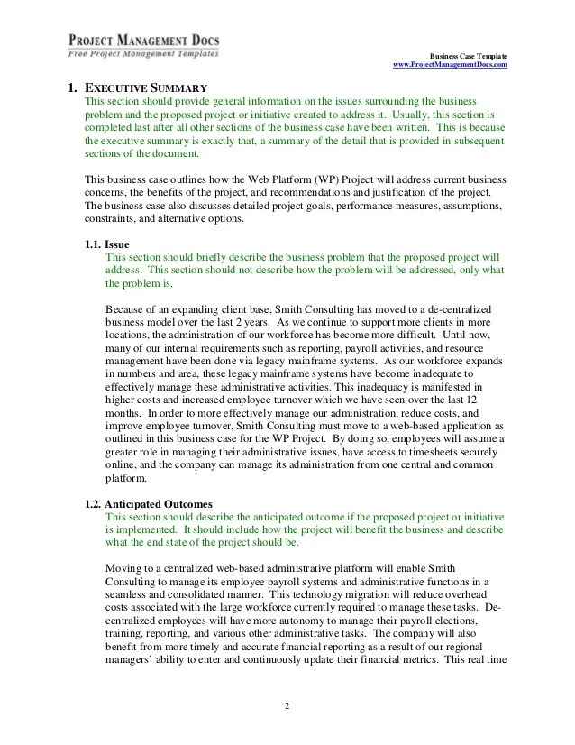 case summary template - Jolivibramusic - Business Case Templates Free