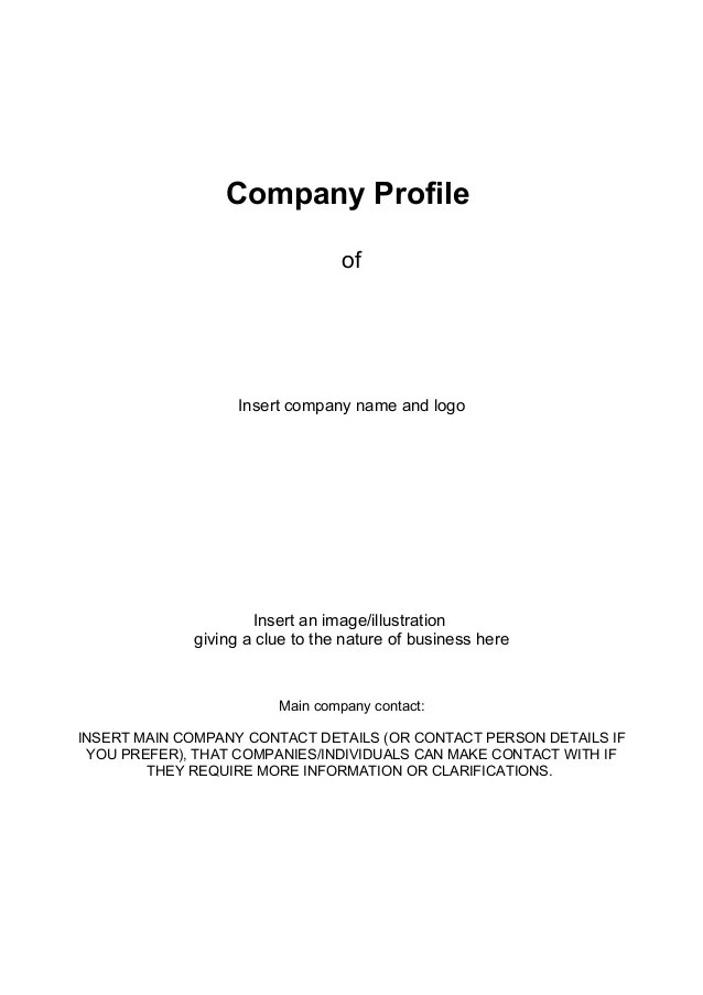 Sample Construction Business Plan Company Profile Template Business Company Profile Templatedocdoc765