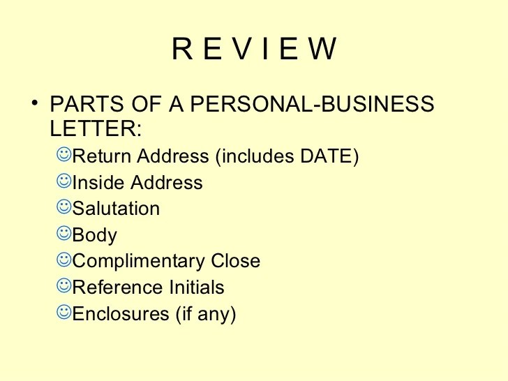 personal business letter examples - Onwebioinnovate - personal business letter