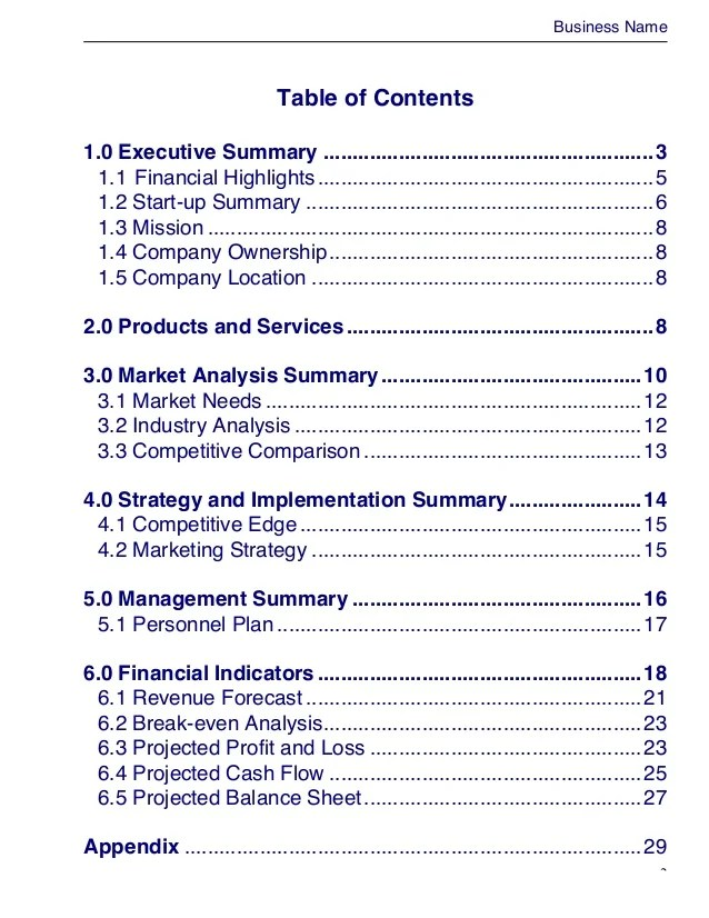 sample business plan doc - Baskanidai - sample business plans