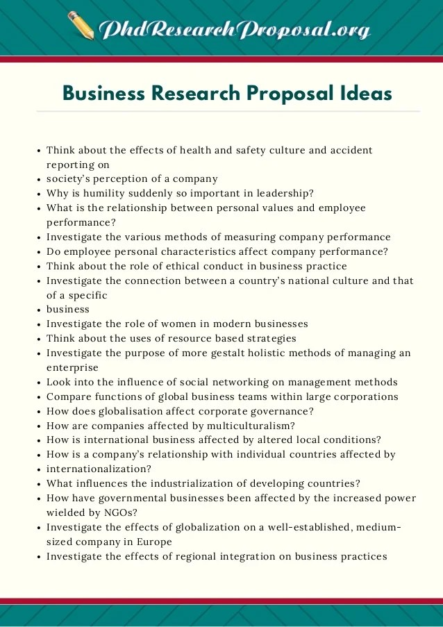 creative business proposal ideas