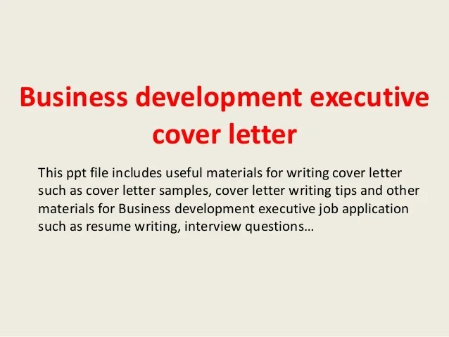 business development manager cover letter sample - Baskanidai - sample resume for business development executive