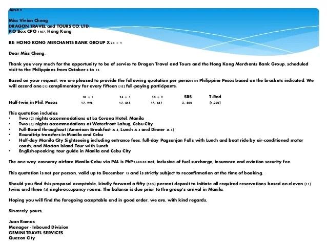 tour quotation format - Romeolandinez - travel quotation sample