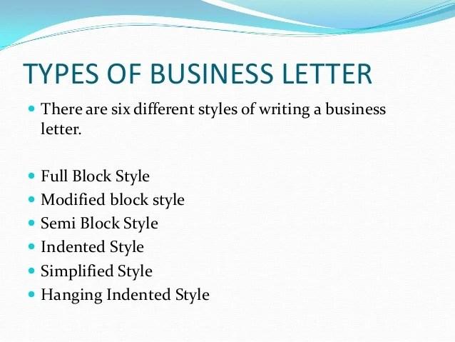 best sample resume letters types business letter