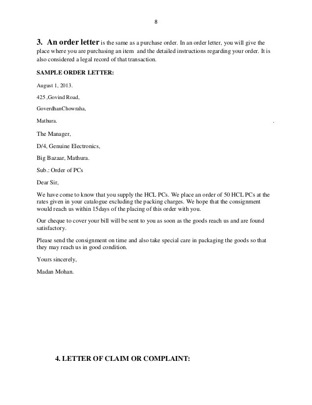 Business Quotation Letter Sample