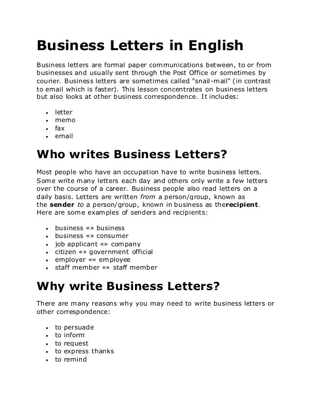 how to start a formal business letter - Selol-ink