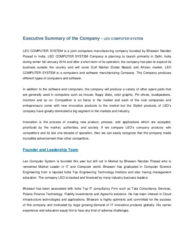 business plan cover letter examples