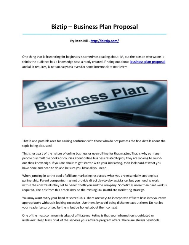 Proposal Guidelines And Samples Your Guide For Business Plan Proposal