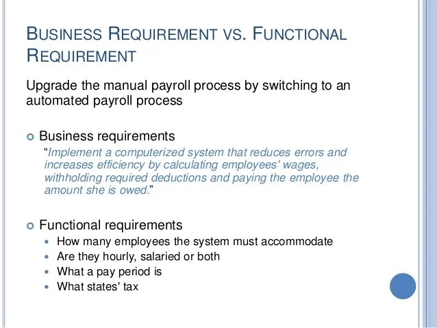 How to write a functional requirements document