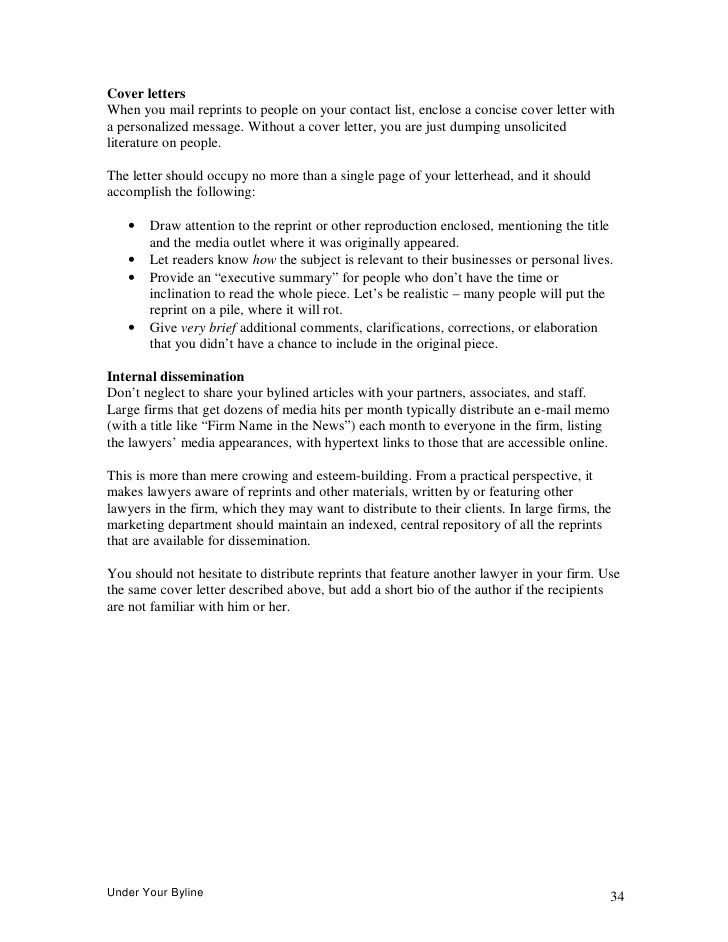 article cover letter