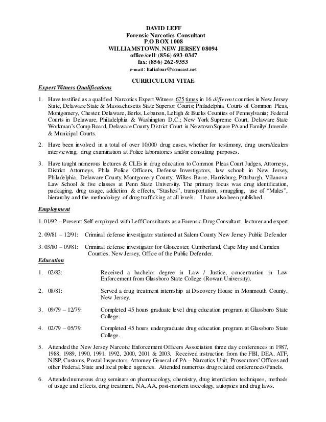 sle cv expert witness executive resume template