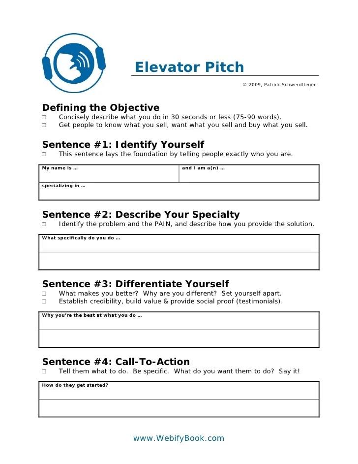 elevator pitch example for business - Pinarkubkireklamowe