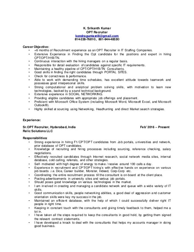 physician recruiter resume professional entry level recruiter - Physician Recruiter Resume