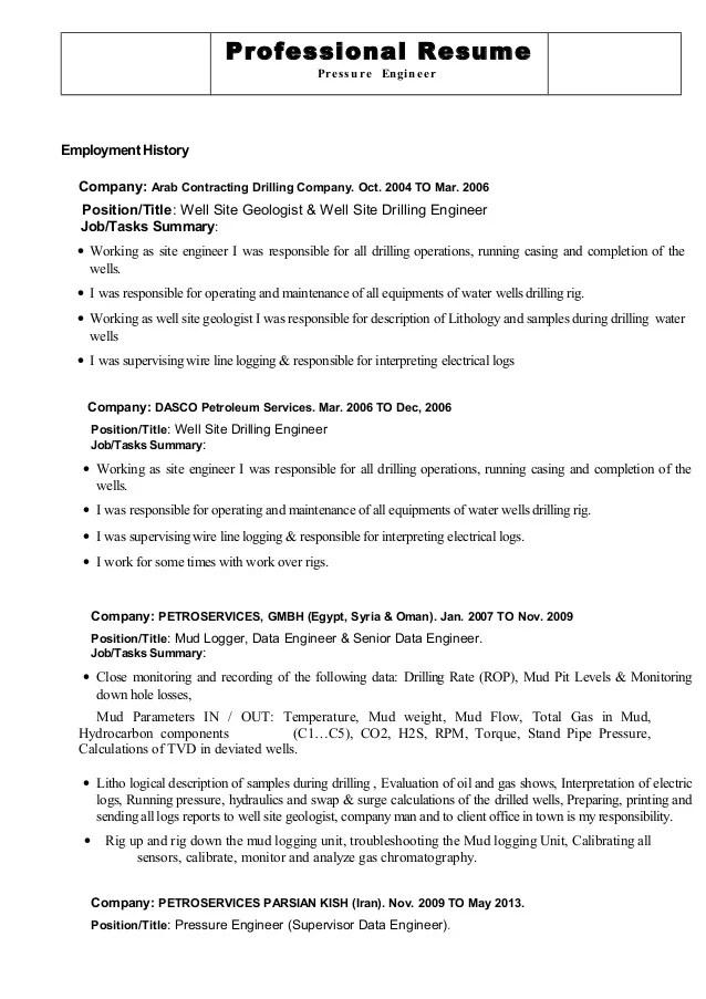 logger resume sample