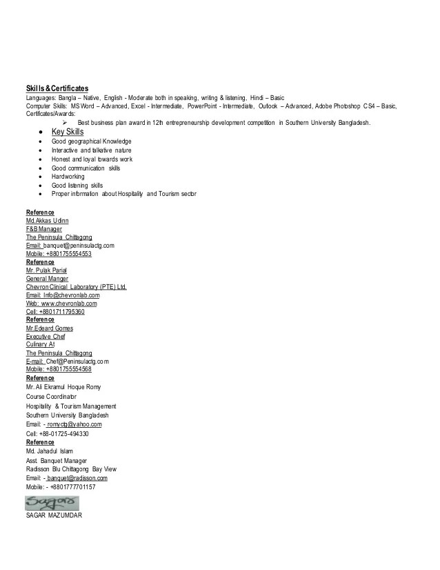 moderate computer skills in resume