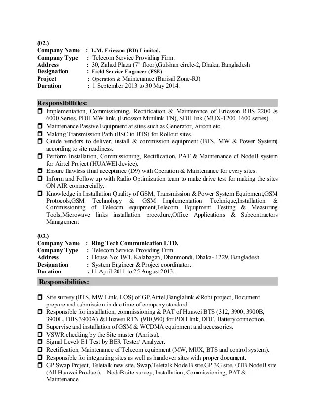 Awesome Telecom Noc Engineer Resume Image Collection - Examples ...