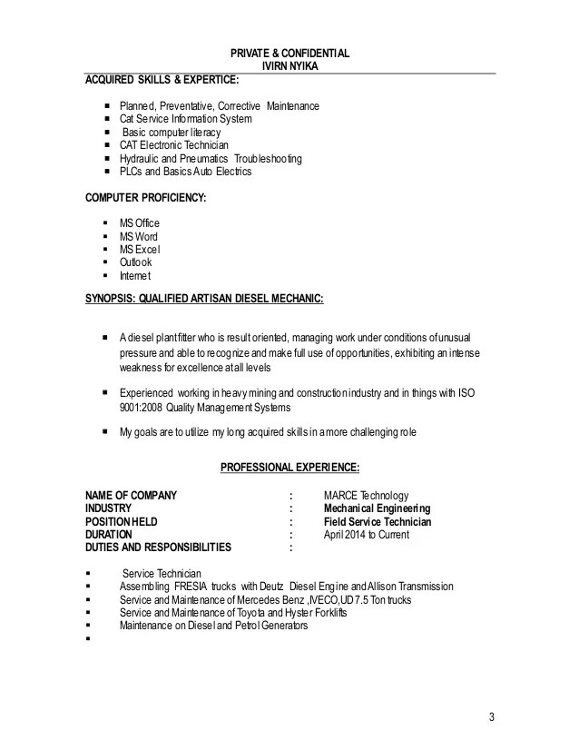 acquired skills resumes - Towerssconstruction